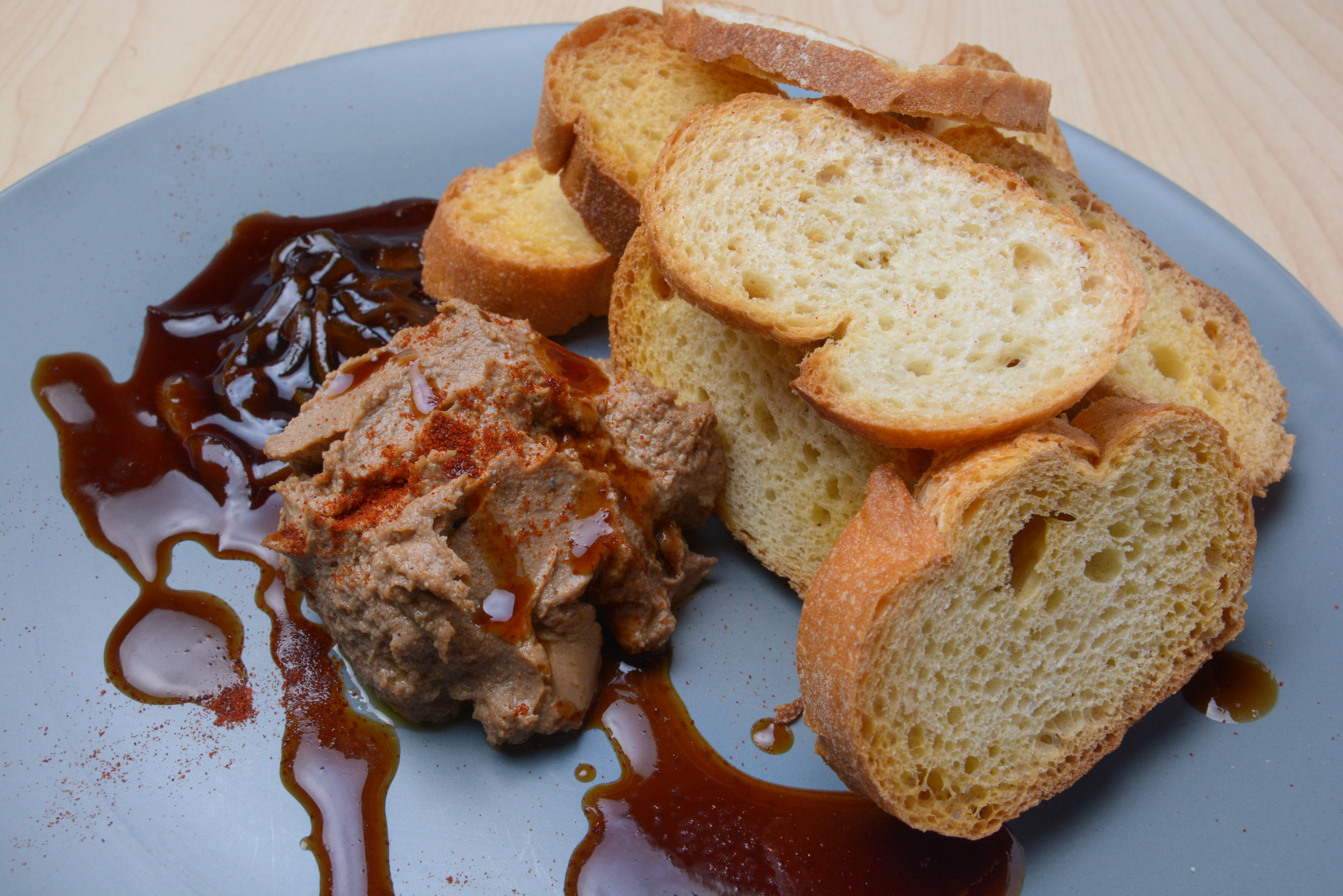 Chicken Adobo Pate with Toast Points