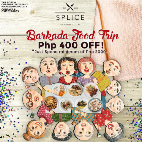 Php400 discount for minimum bill of Php2000