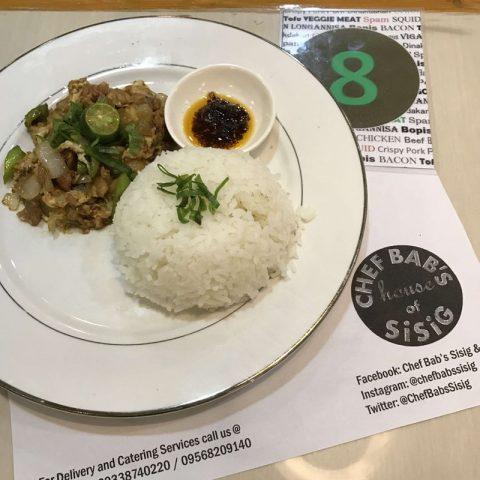 Chef Bab's Sisig, University Mall